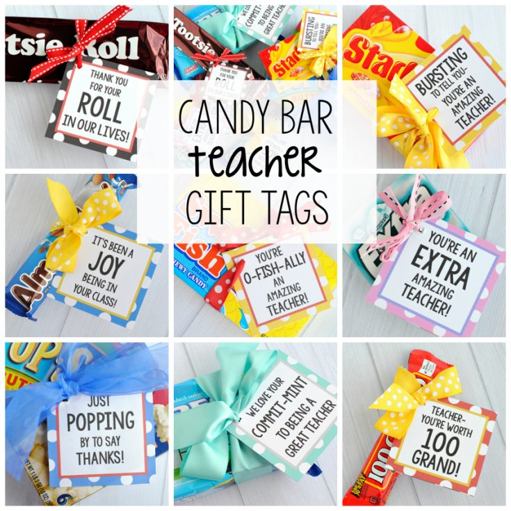 Candy Bar Gift Tags