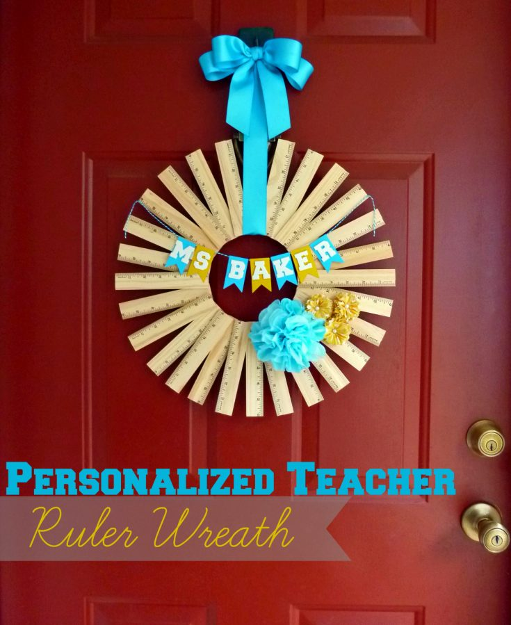 Personalized Ruler Wreath