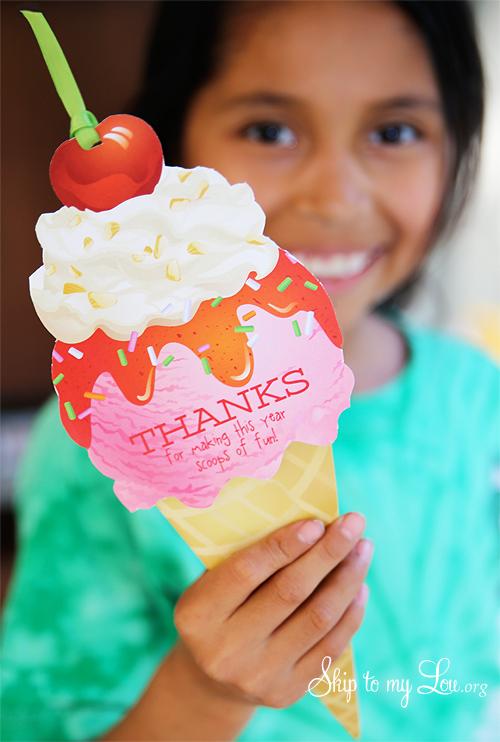 Ice Cream Gift Card Printable