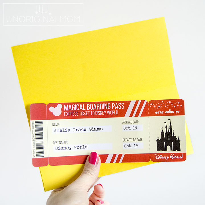Free Printable Disney Boarding Pass Tickets