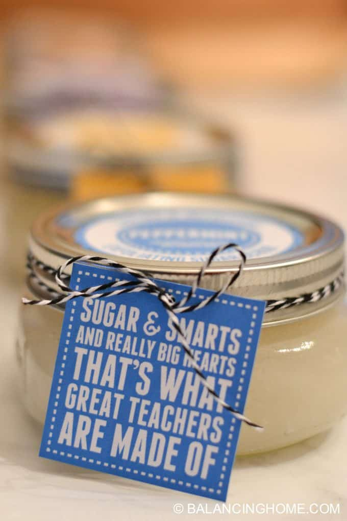 Sugar Scrub Recipe with Printable Labels