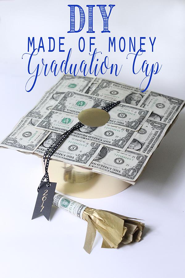 DIY Graduation Cap Made of Money