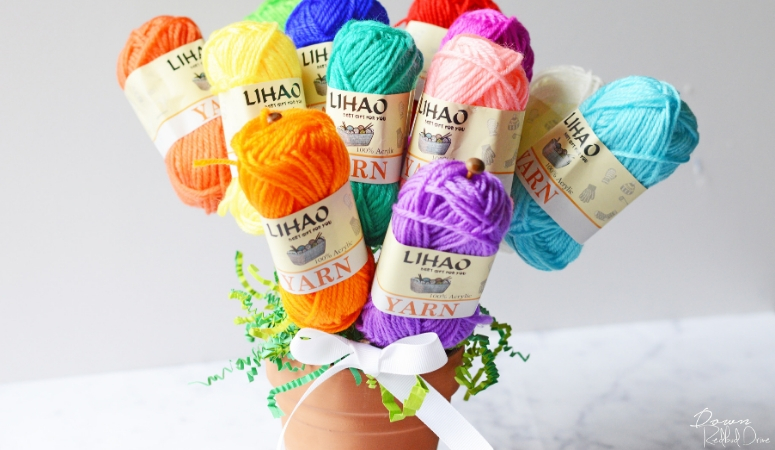 Yarn Bouquet DIY