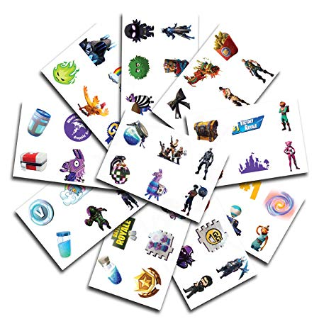 10 Sheets of Fortnite Temporary Tattoos