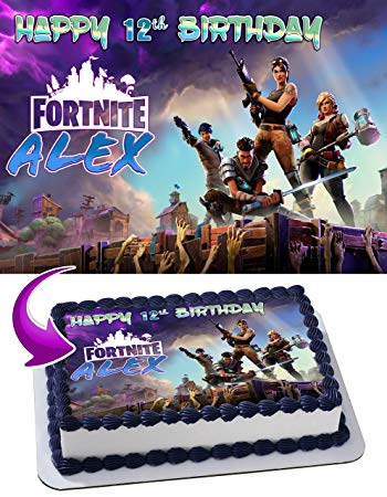 Edible Fortnite Cake Topper (Personalized)