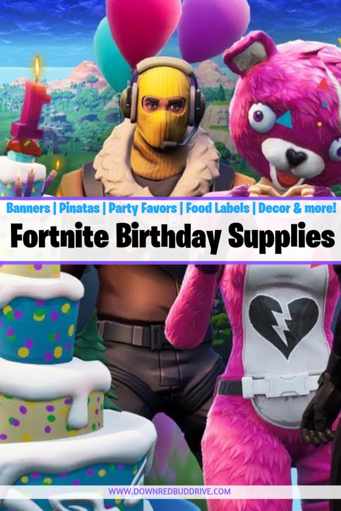 Fortnite Birthday Supplies