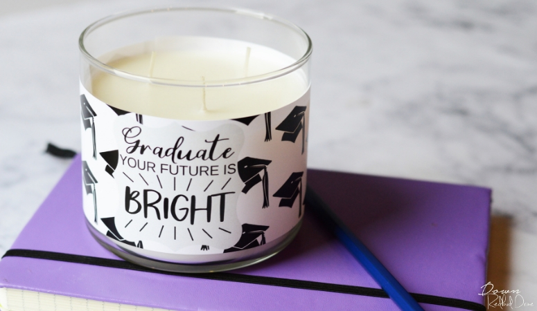 Graduation Candle Gift | Free Printable Candle Labels