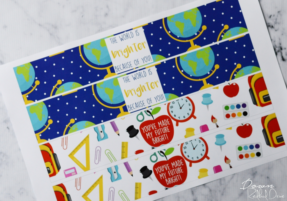 teacher gift printable labels