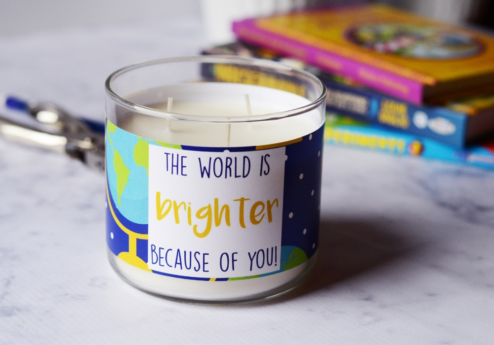 Teacher Candle Gift world candle