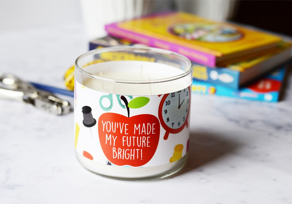 Teacher Candle Gift wide