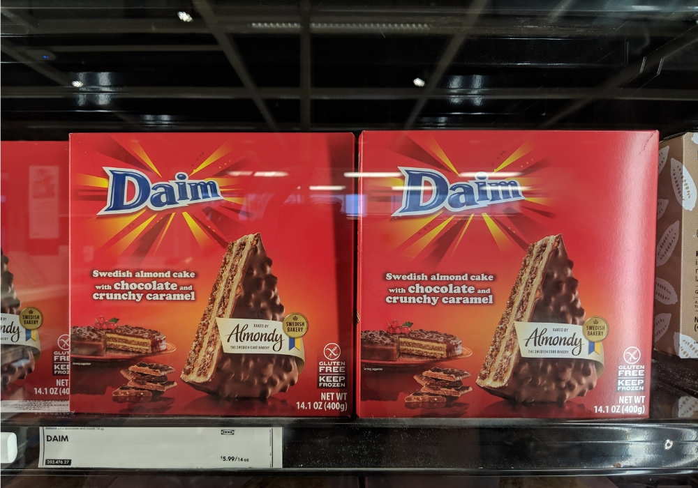daim dessert at IKEA dallas