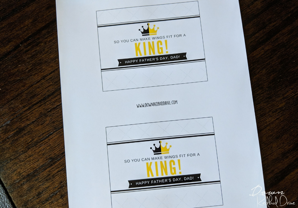 Wings for a King printable signs