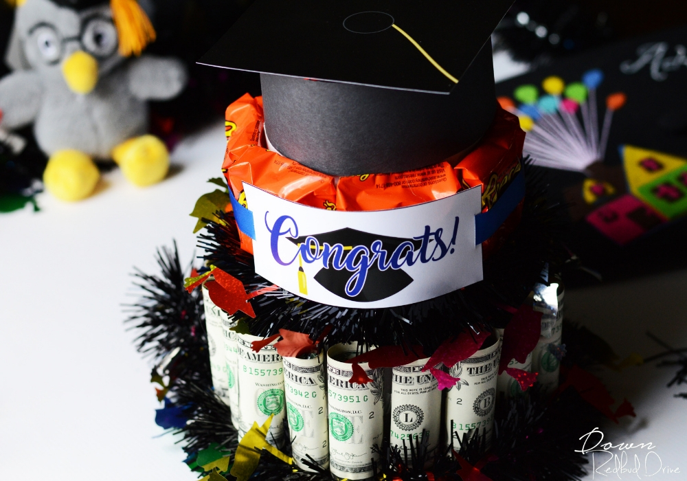 Graduation Money Cake