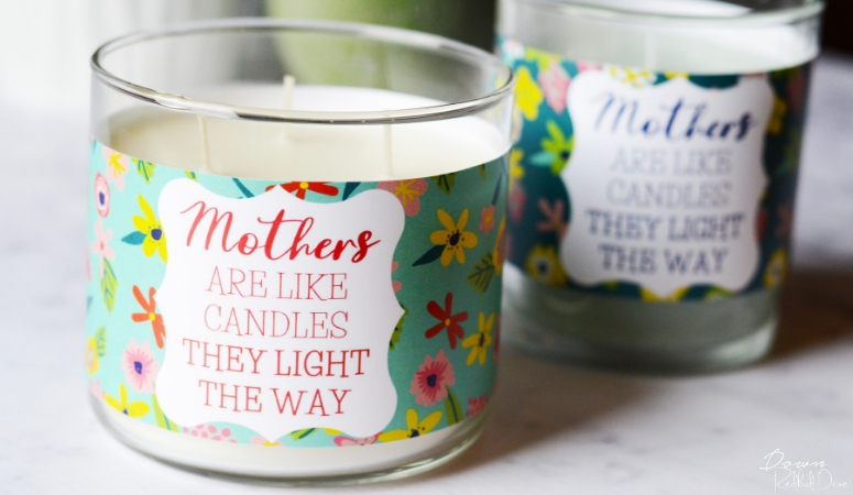 Mother's Day Candles | Free Printable Candle Labels