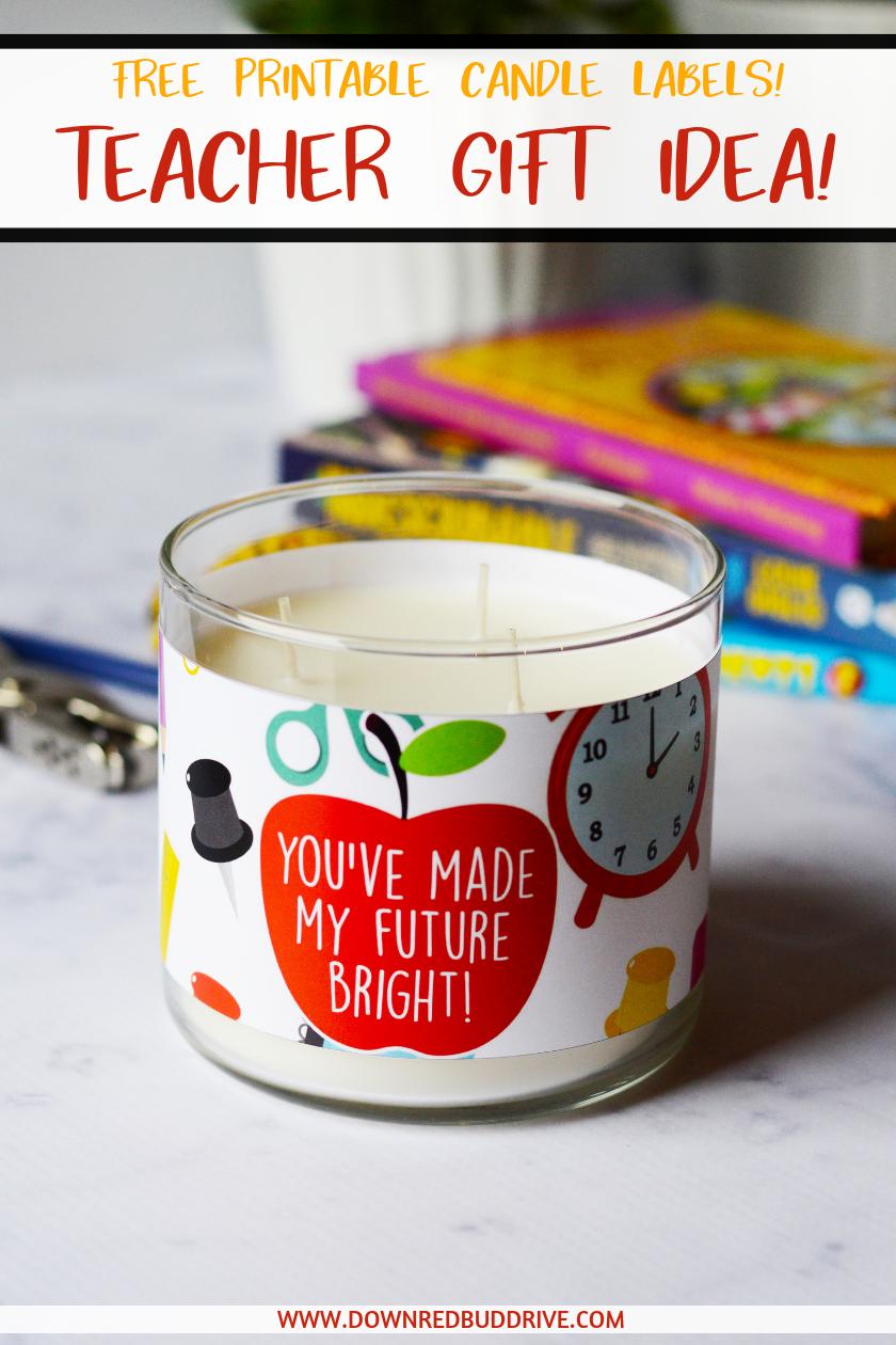 Teacher Candle Gift pinterest