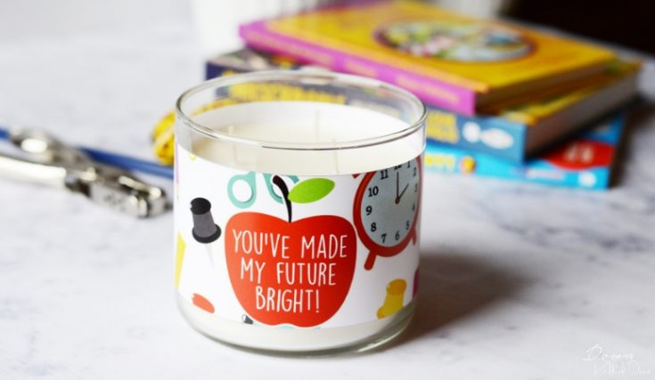 Candle Teacher Gift DIY | Free Printable Candle Labels