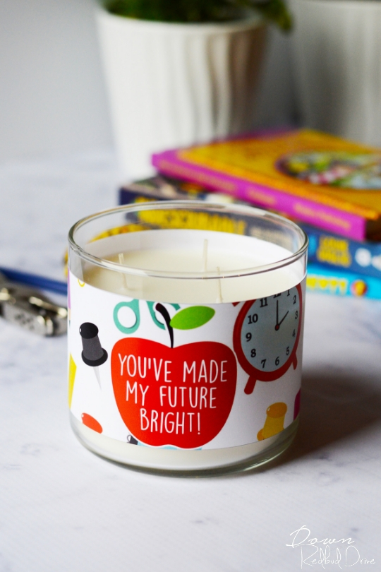 Teacher Candle Gift | Free Printable Candle Labels