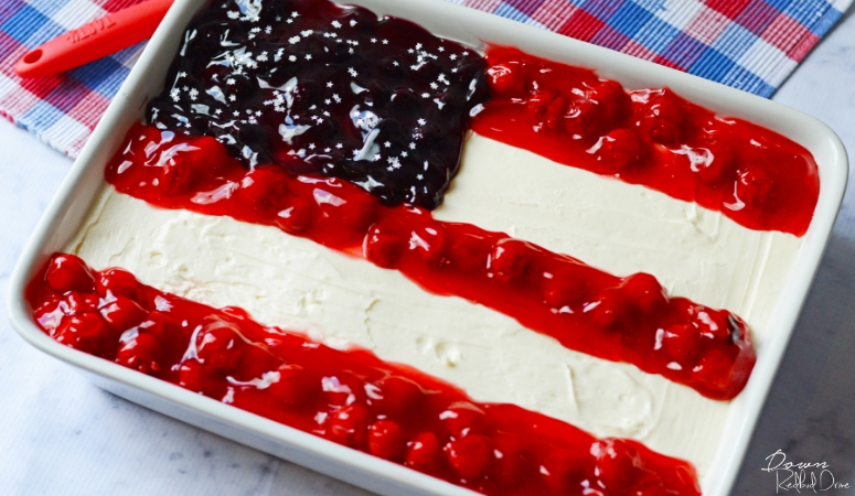 American Flag Cheesecake