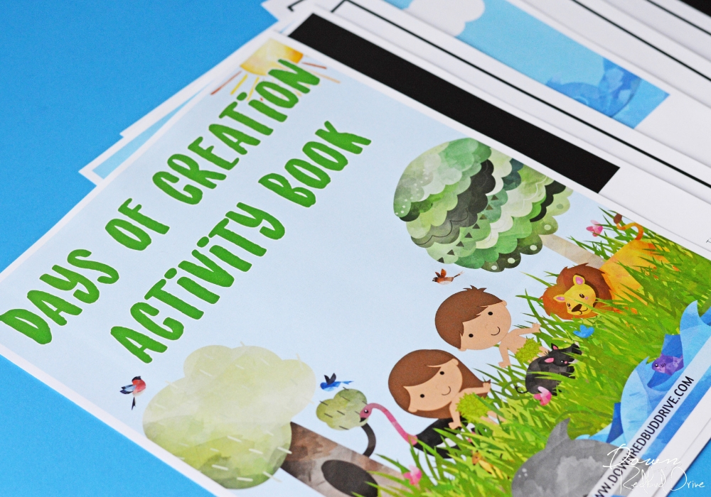 days of creation printable activity book