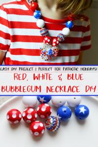 patriotic bubblegum necklace pinterest
