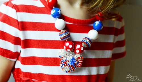 patriotic bubblegum necklace
