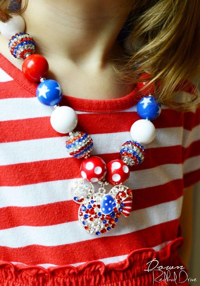 patriotic bubblegum necklace