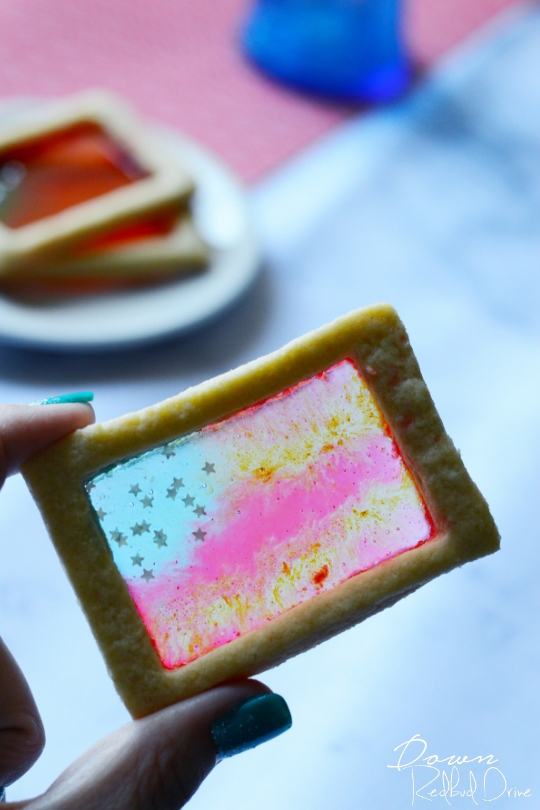 American Flag Stained Glass Cookies
