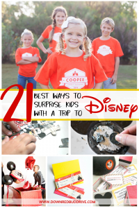 creative ways to surprise kids with a Disney trip