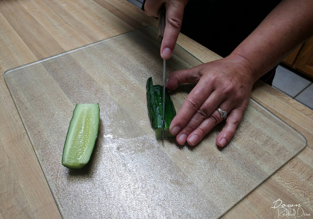 slicing cucumbers for refrigerator pickles