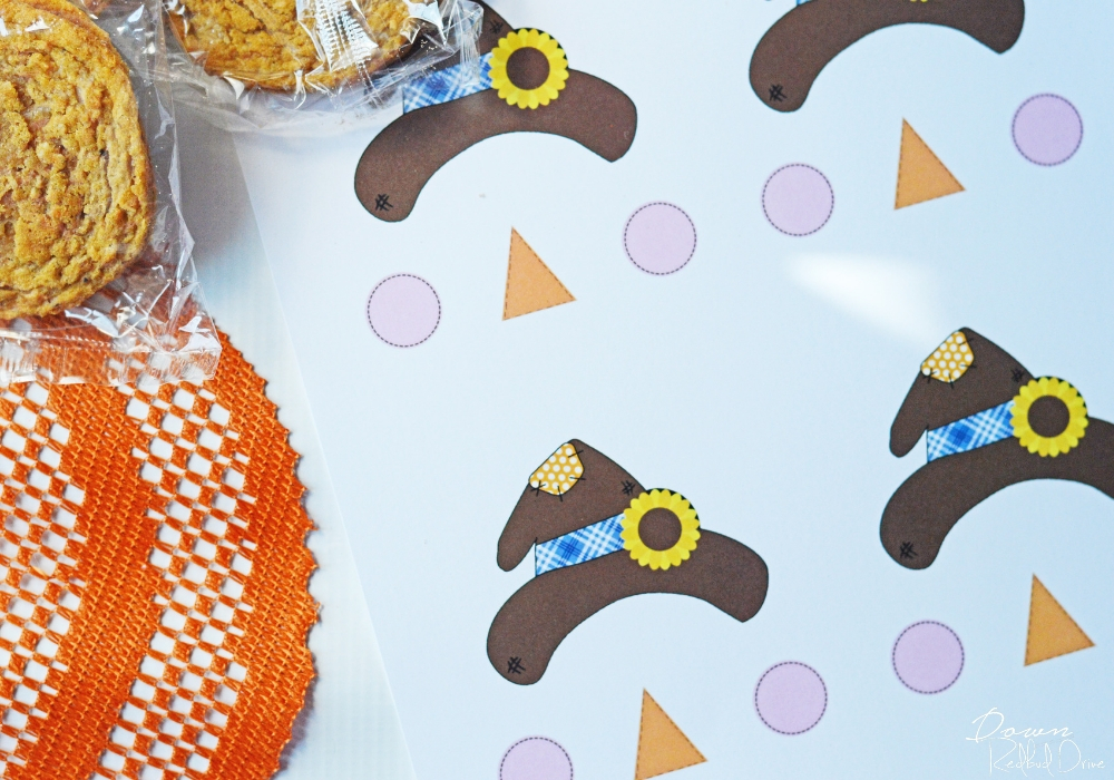 printable sheet for making oatmeal cream pie scarecrows