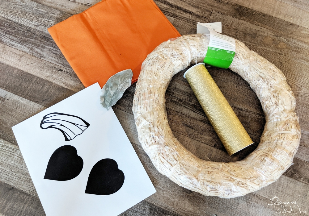 pumpkin wreath making supplies