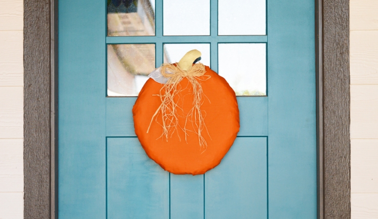 Pumpkin Wreath DIY