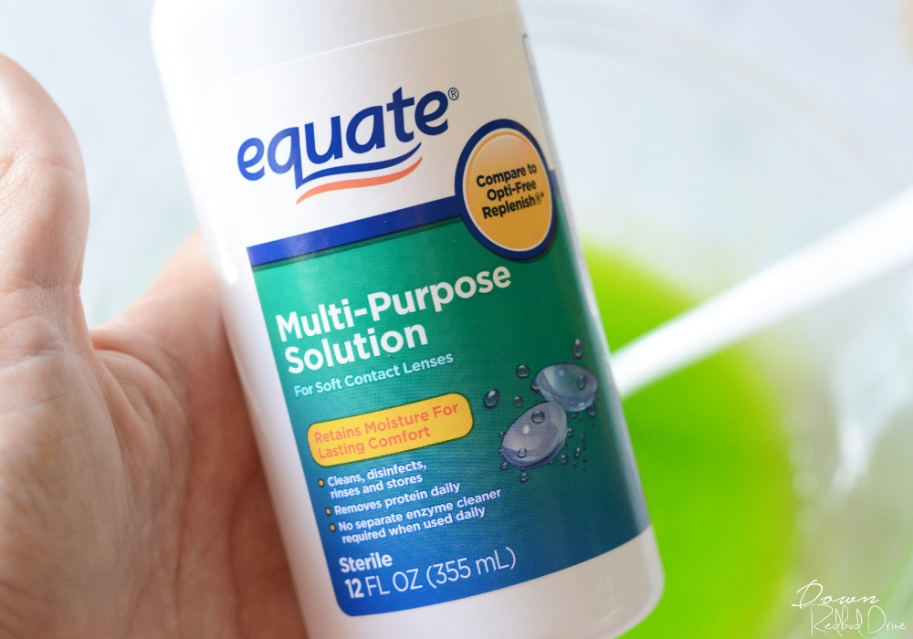 equate contact solution for slime making