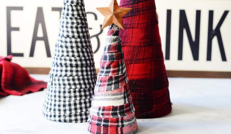 DIY Flannel Trees