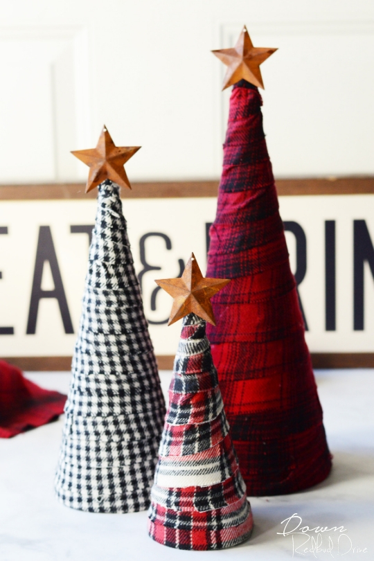 DIY Flannel Trees by Down Redbud Drive.
