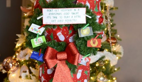 gift card roulette wreath