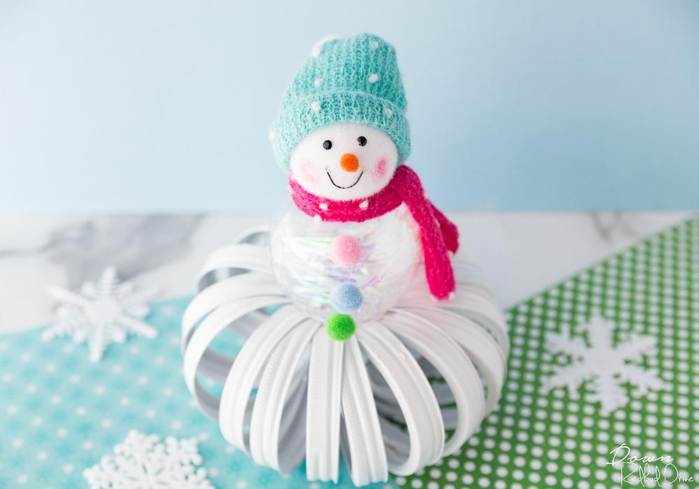 Mason Jar Lid Snowman Easy Diy Winter Home Decor