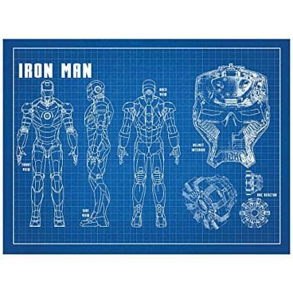 Iron Man Blueprint Poster