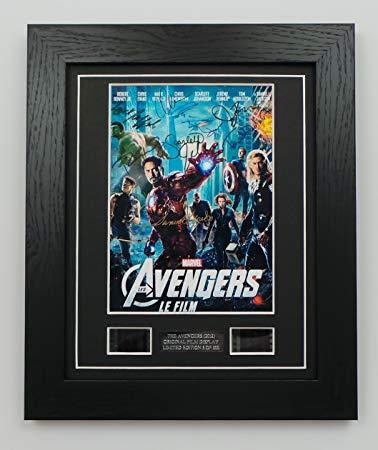 Reproduction The Avengers Signed + The Avengers Film Cells Framed