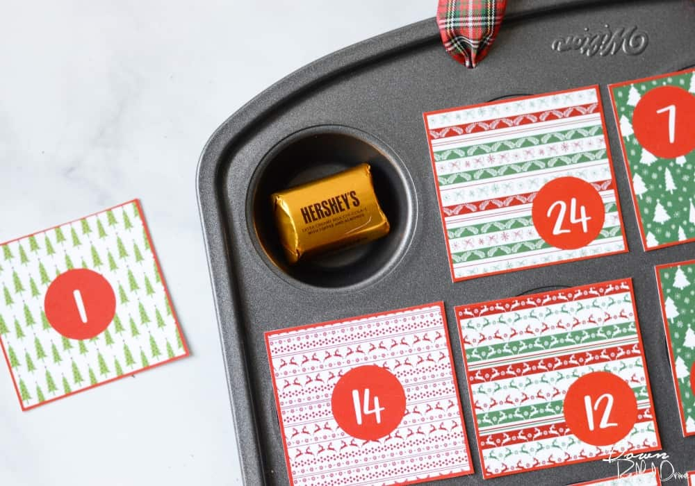 muffin tin advent calendar chocolate