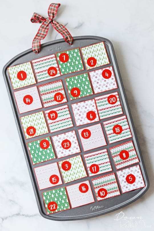 muffin tin advent calendar free printables