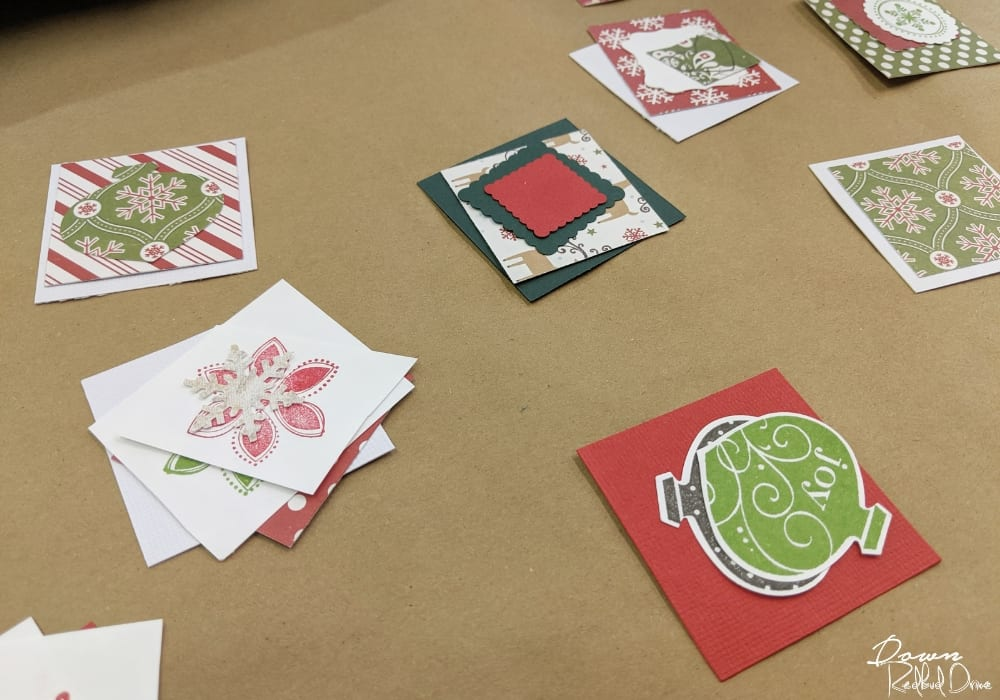 christmas paper squares