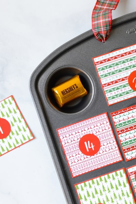 muffin tin advent calendar
