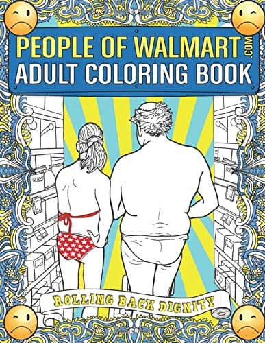 People of Walmart Adult Coloring Book