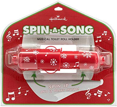Hallmark Spin-a-Song Musical Toilet Roll Holder