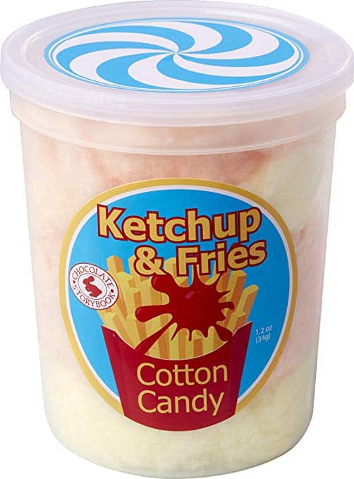 Ketchup and Fries Gourmet Flavored Cotton Candy