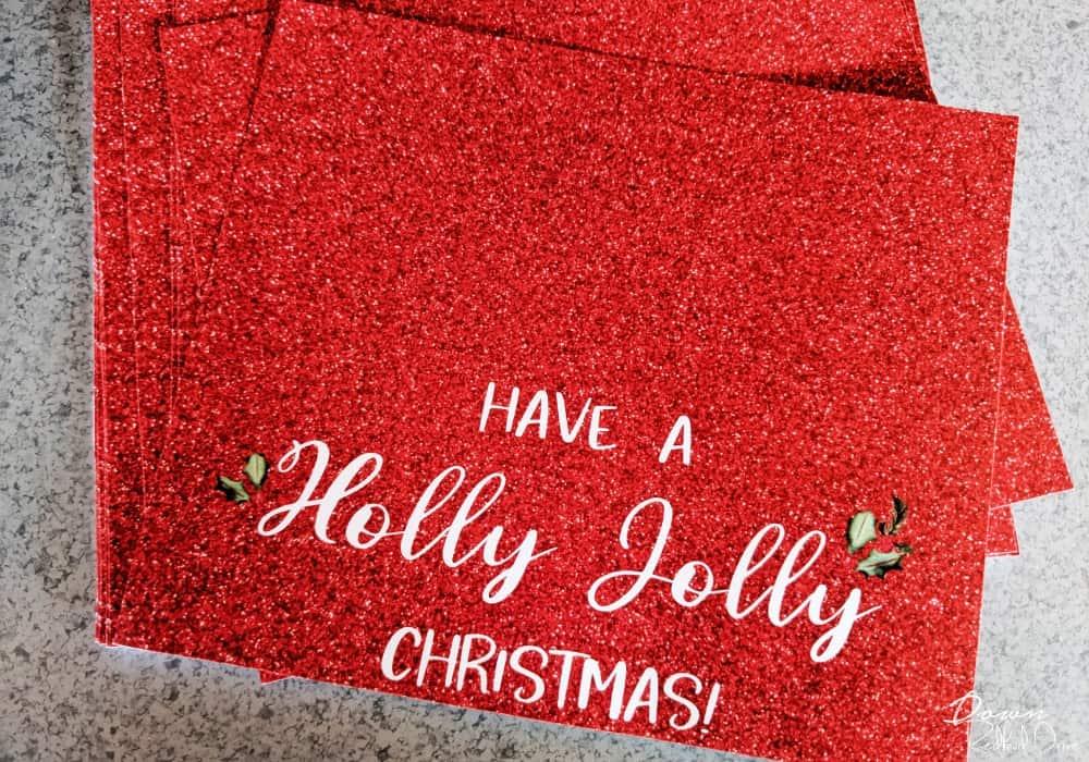Holly Jolly Christmas printable tags