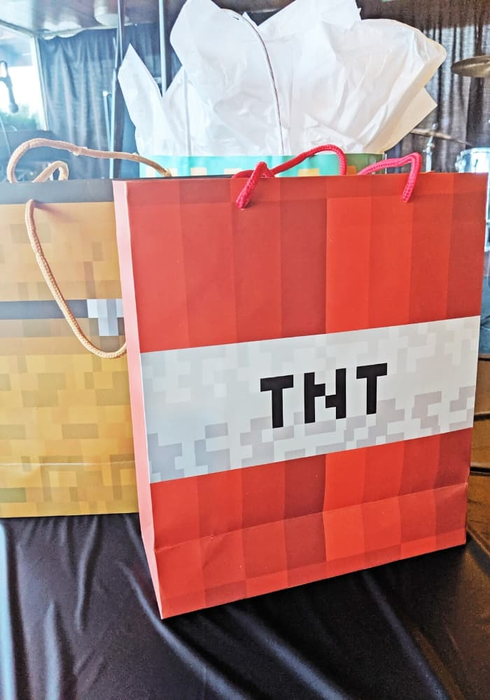 Minecraft gift bags