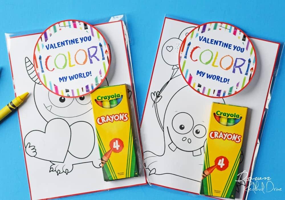 Crayon Valentines