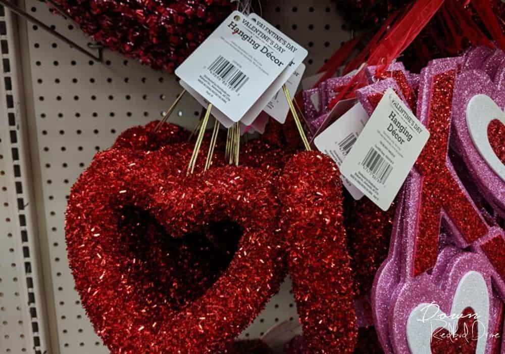 hanging heart decor at Walmart